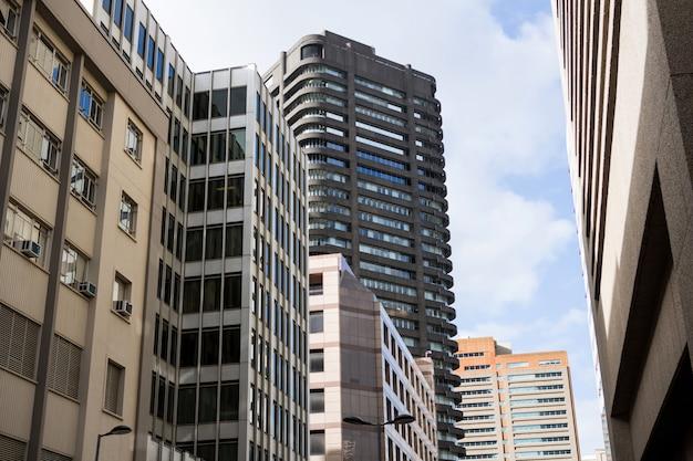 Vista dos edifícios