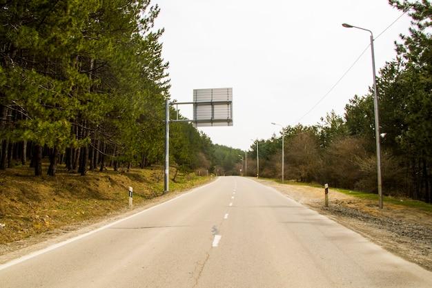 Vista e paisagem de rodovias e estradas na geórgia