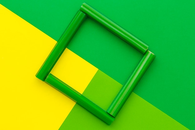Vista elevada, de, alcaçuz, bala doce, quadro formando, ligado, contrato, experiência verde