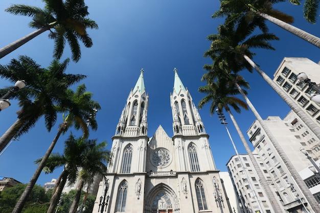 Vista em perspectiva da catedral de são paulo