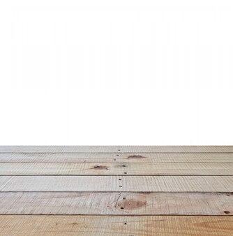 Vista em perspectiva de assoalho de madeira com madeira