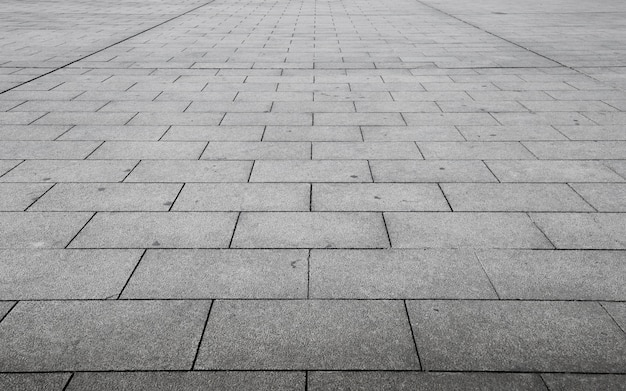 Vista em perspectiva de pedra de tijolo cinza monotone