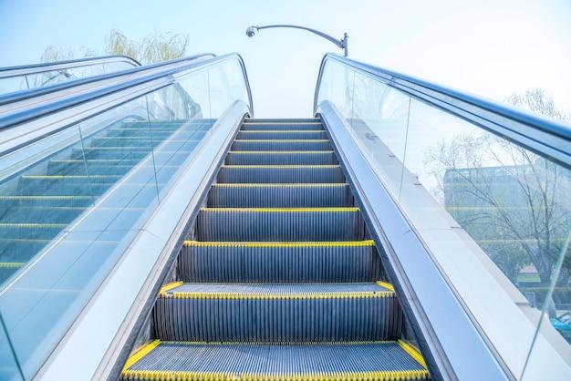 Vista escada rolante