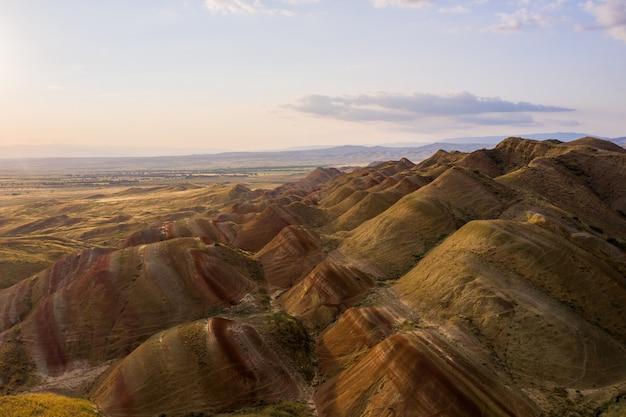 Vista espetacular de região montanhosa