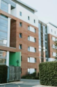 Vista exterior, de, modernos, inglês, apartamento