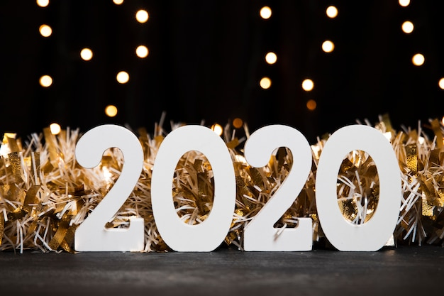 Vista frontal 2020 festa de comemoração