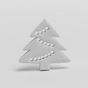 Vista frontal da decoração da árvore de natal