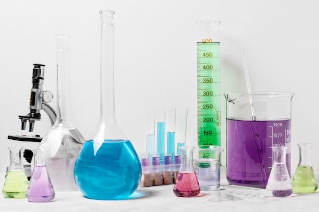 Vista frontal do conceito de ciência