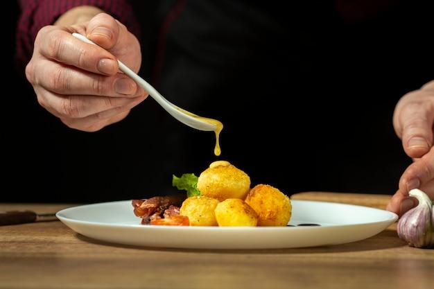 Vista frontal do conceito de comida deliciosa