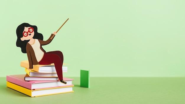 Vista frontal do conceito de dia de educação
