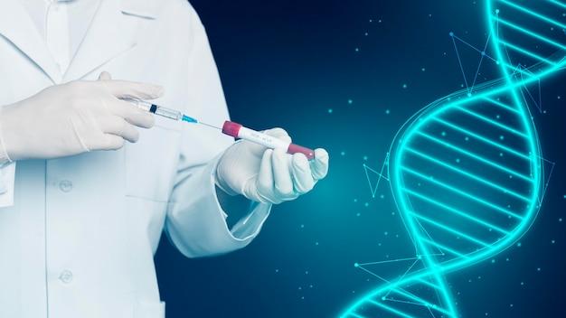 Vista frontal do conceito médico de vacina