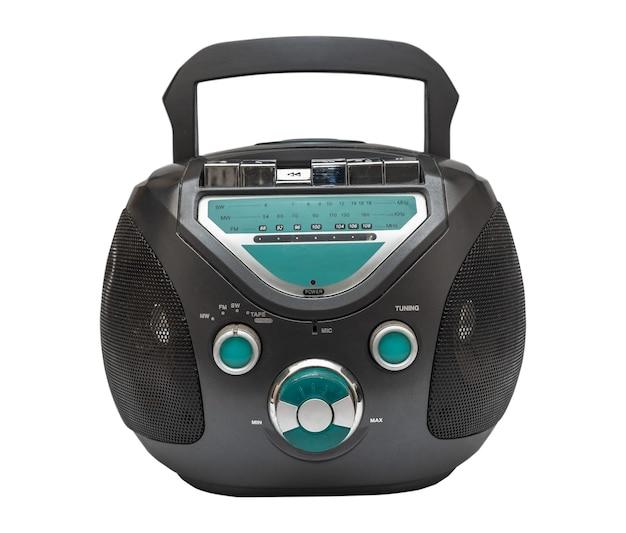 Vista frontal do dispositivo de rádio