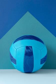 Vista frontal do futebol com espaço de cópia
