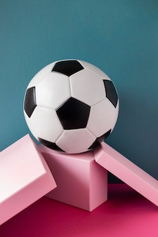Vista frontal do futebol