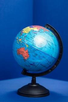 Vista frontal do globo da terra