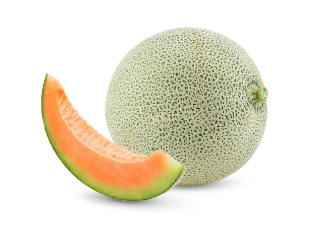 Vista frontal do melão cantalupo