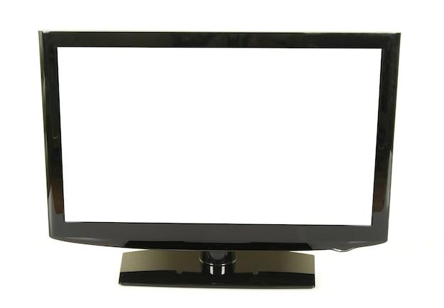 Vista frontal do monitor lcd widescreen isolado no branco