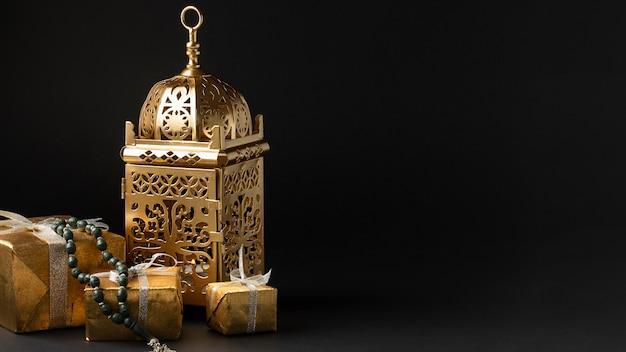 Vista frontal islâmica ano novo conceito
