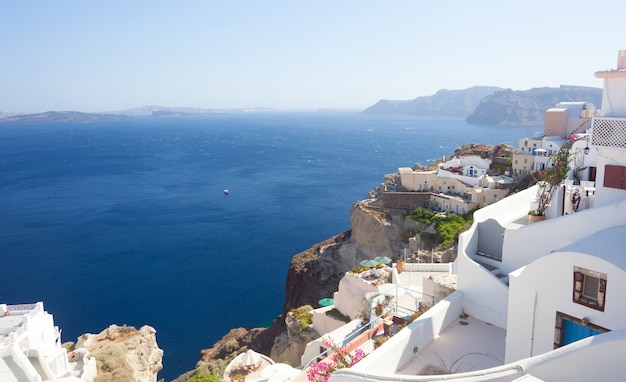 Vista genérica da ilha de santorini, grécia.