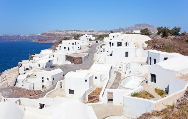 Vista, genérico, vila, santorini, ilha