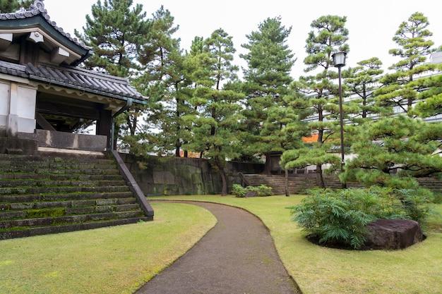 Vista incrível no jardim japonês