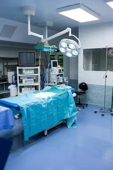 Vista interior da sala de operação