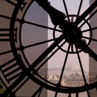 Vista interior, de, relógio, em, musee, d'orsay