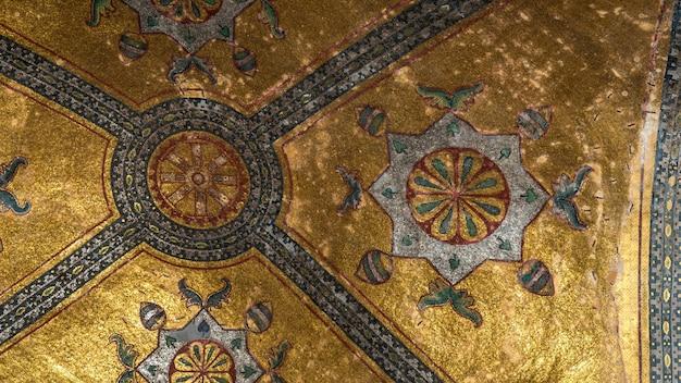 Vista interior do museu hagia sophia em istambul, turquia.