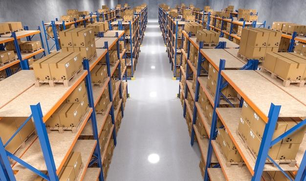 Vista interna do armazém
