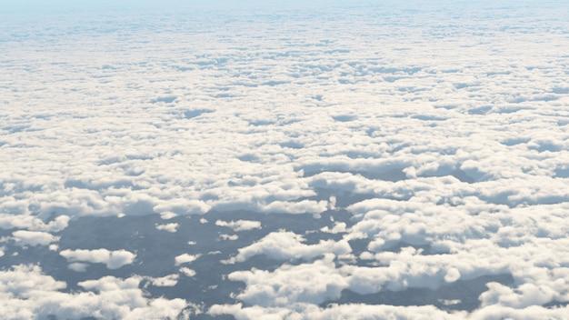 Vista no papel de parede da nuvem na cena da paisagem e da natureza.