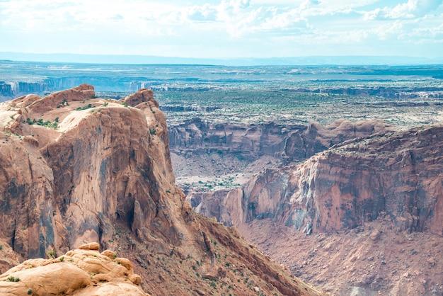 Vista no parque nacional canyonlands em utah