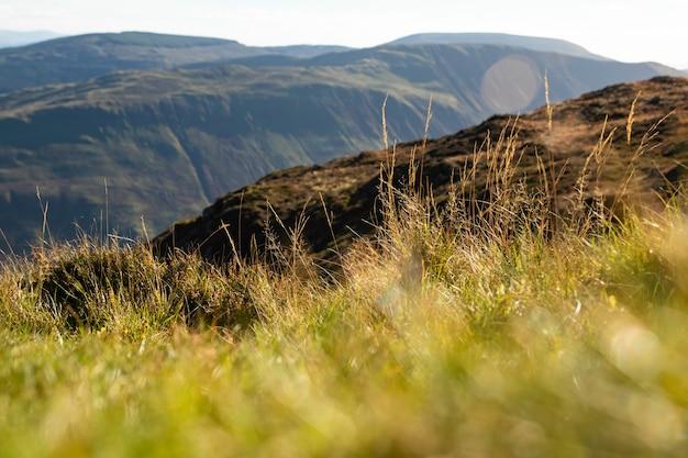 Vista paisagem, ligado, andar, rotas, cima, cader, idris, gales, reino unido