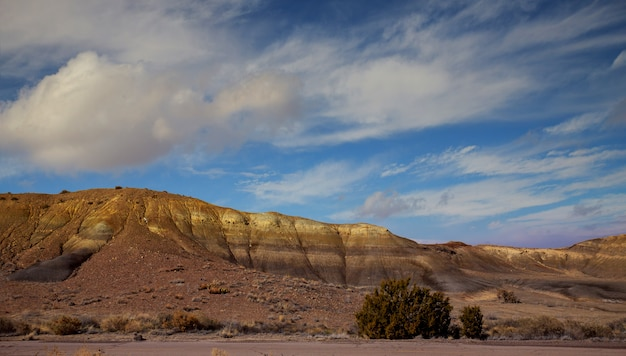 Vista panoramic, de, a, vermelho, pedras, área, em, norte, novo méxico