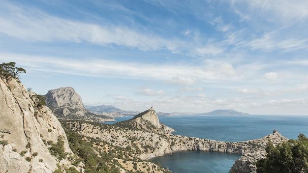 Vista panorâmica da bela paisagem do oceano
