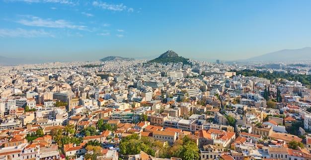 Vista panorâmica da cidade de atenas, grécia