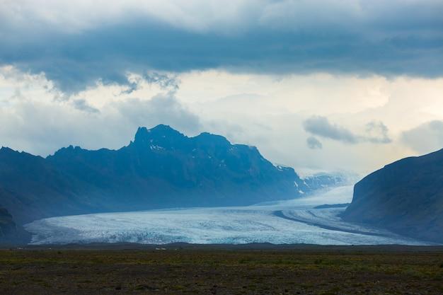 Vista panorâmica da geleira skaftafell
