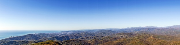 Vista panorâmica da montanha ahun, sochi, rússia.