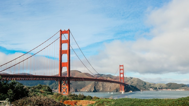 Vista panorâmica da ponte golden gate, são francisco, califórnia, eua