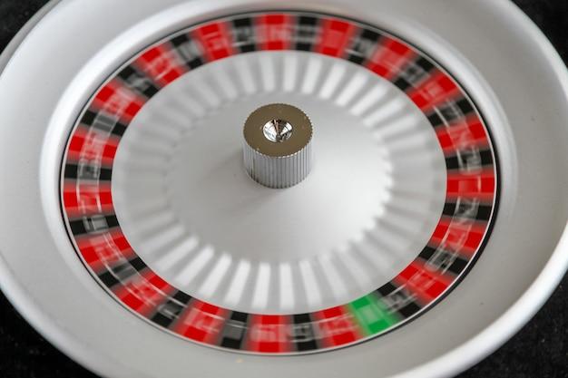 Vista panorâmica da roda da roleta do cassino