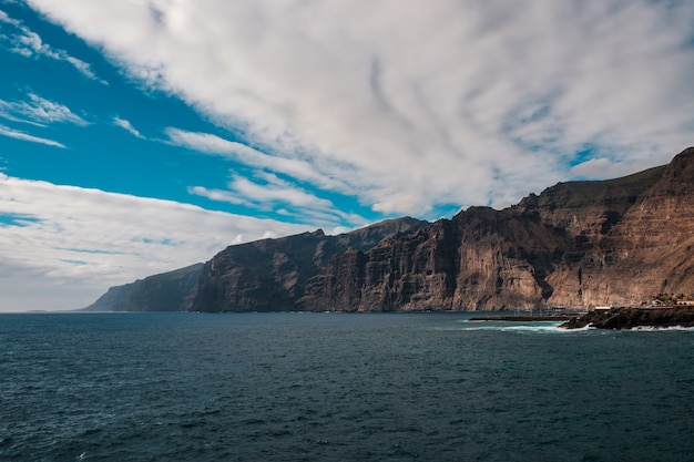Vista panorâmica das falésias de los gigantes
