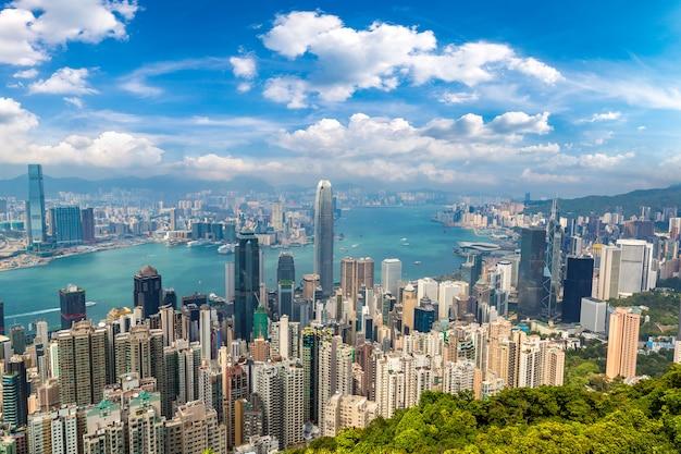 Vista panorâmica de hong kong