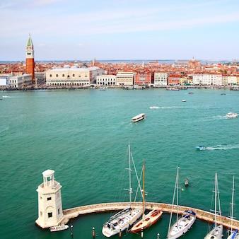 Vista panorâmica de veneza, itália