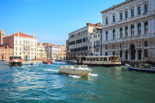 Vista panorâmica do canal grande em veneza, itália