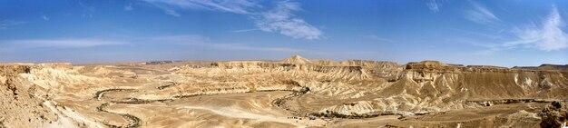 Vista panorâmica do canyon ein avdat