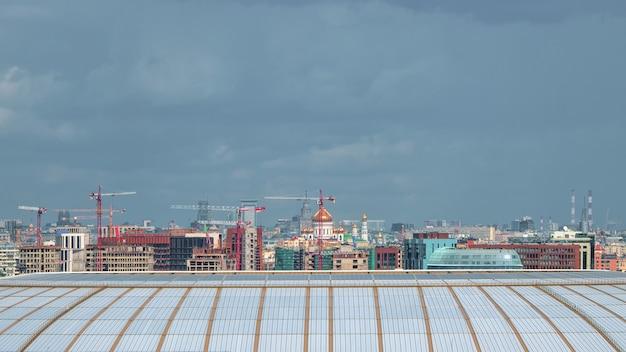 Vista panorâmica do desenvolvimento do centro da cidade de moscou.