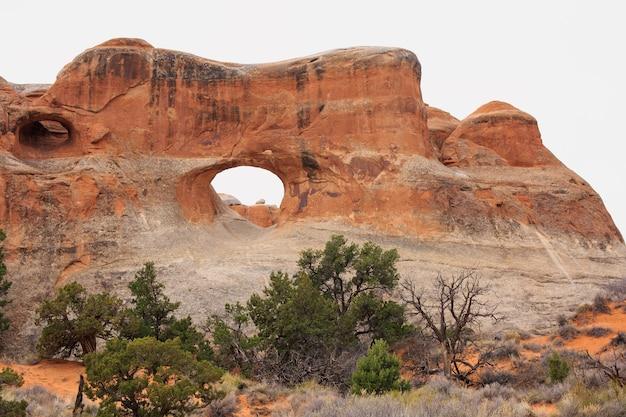 Vista panorâmica do parque nacional dos arcos. moab, utah,