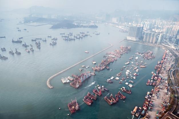 Vista panorâmica para hong kong