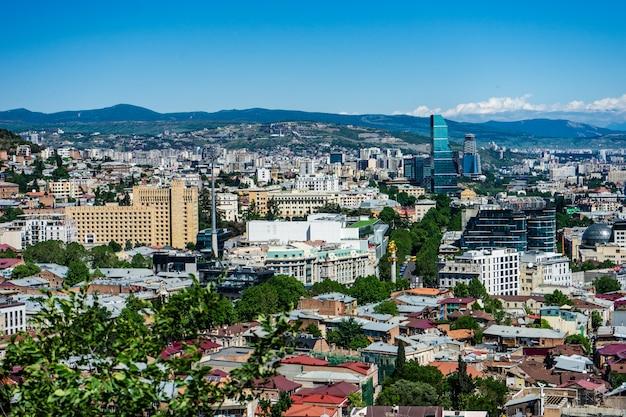Vista para a cidade velha de tbilisi, geórgia