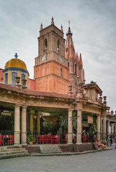 Vista, paróquia, igreja, la, parroquia, san, miguel, allende, guanajuato, méxico