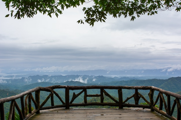 Vista, ponto, sacada, tanga, pa, phum, nacional, parque, kanchanaburi, tailandia